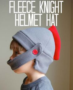 Fleece Knight Helmet Hat with tutorial and free pattern! ***Der perfekte Helm f… Fleece Knight Helmet Hat with tutorial and free pattern! Sewing For Kids, Baby Sewing, Free Sewing, Diy For Kids, Fabric Sewing, Sewing Tutorials, Sewing Projects, Sewing Patterns, Craft Tutorials
