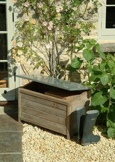 There s no end of uses for this rustic storage box  from keeping wellies  and shoes   Outdoor Storage BoxesWooden  Wooden Outdoor Storage box at Garden Trading   Garden Storage  . Outside Storage Boxes Wooden. Home Design Ideas
