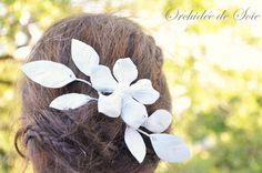Accessoires de mariées en cuir : Orchidée de Soie