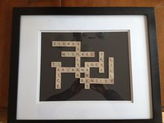 Scrabble Names. This is so awesome!!! What a great gift idea!!