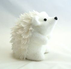 Christmas White Hedgehog Ornament by Gisela Graham ...