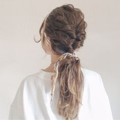 "Light and sweet hair ♡ Beautiful hair arrangement with ""Kururinpa"" – From Parts Unknown Kawaii Hairstyles, Pretty Hairstyles, Braided Hairstyles, Hair Arrange, Grow Hair, Hair Designs, Hair Type, Dyed Hair, Hair Makeup"