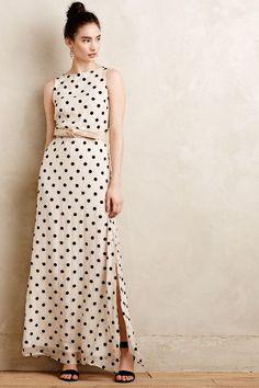 Flocked Dot Maxi Dress #anthrofave