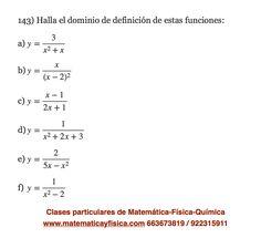 Dominio, funciones polinómicas | Ejercicios de Dominio de Funciones ...