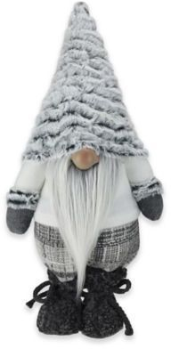 Northlight Winter's Beauty 16-Inch Christmas Gnome Decoration in White/Light Grey