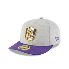 Minnesota Vikings New Era 2018 Official Sideline Road Low Profile 59FIFTY  Fitted Cap 1990359dd