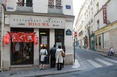 Higuma 32 bis rue Sainte Anne – Paris 75001 La spécialité de cette cantine sont les ramens, met traditionnel japonais à base de bouillon de pâtes accompagnées par du poisson ou de la viande.