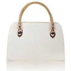 $11.95 Elegant Women's Tote Bag With Crocodile Print and PU Leather Design