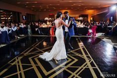 Gatsby himself would be jealous of this gorgeous dance floor! Great Gatsby Wedding, Art Deco Wedding, Dance Floor Wedding, Wedding Ceremony, Dance Floor Lighting, City Chic, Black Sequins, Jealous, Luxury Wedding