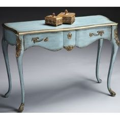 Butler Console Table French Baby Blue - @~ Mlle
