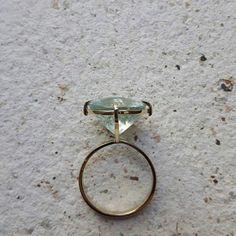#ring #gold #aquamarine