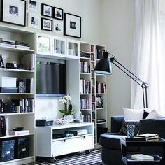 Monochrome living room | Living room ideas | Living room | PHOTO GALLERY | Ideal Home | Housetohome.co.uk