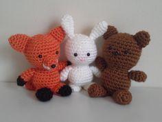 Crochet Toy  Fox Teddy Bear Bunny  Newborn by EastCoastStitches