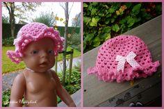 Jannies Hobbyhoek: Gehaakt hoedje voor de Baby Born (met patroon)