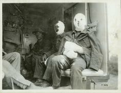 GREAT WAR: Mustard Gas Victims. Except in high doses, the gas is not fatal, but causes horrid burns and blisters. It will singe the lungs. Infection was a concern. There were no antibiotics to treat any injury.