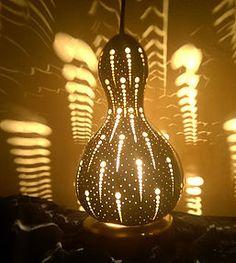 Handmade Gourd Lamp The Aboriginal