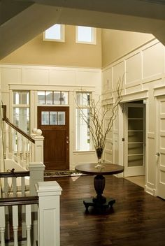 a collection of ideas for decorating two story walls...