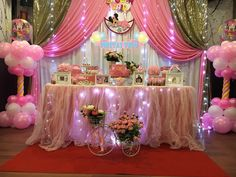 Image gallery – Page 545005992402242373 – Artofit Minnie Mouse First Birthday, Minnie Mouse Baby Shower, Baby Shower Princess, Baby Girl Birthday, Minnie Mouse Decorations, Mermaid Party Decorations, Girl Birthday Decorations, Baby Shower Decorations, Prince Birthday Party