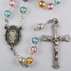 7Mm Multi Colored Pearl Rosary