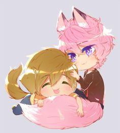 Makoto loves to be pet . Cute Baby Bunnies, Cute Babies, Makoto Tachibana, Free Iwatobi Swim Club, Manga Characters, I Love Anime, Anime Chibi, Neko, Kawaii