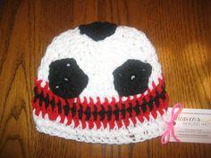 soccer crochet hat for cancer patient