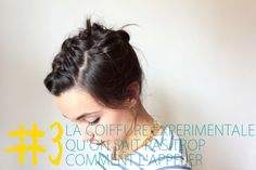 """Tutorial objectives: 3 Hairstyles for """"short"""" hair. I don't peak French but she's super cute and I like her ideas."""
