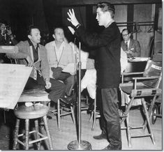 GI Blues recording session. Elvis had a complete understanding of his music and everyone else's parts in the music.