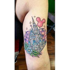 Cinderella Castle done by @jayceedward on @caseyandthebear #inkeddisney