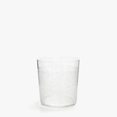 Image 1 of the product GLASS TUMBLER WITH WHITE LEOPARD TRANSFER