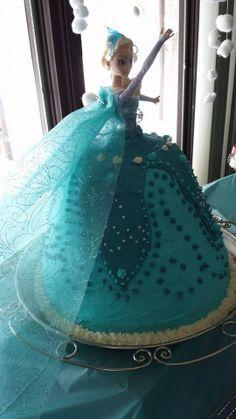 Elsa from Frozen - birthday cake