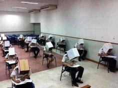 Exam  anti cheating headgear #youlookridiculous #hehe