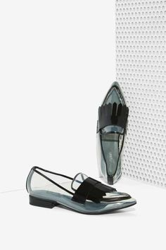 Jeffrey Campbell Belan-Kilt Clear Loafer