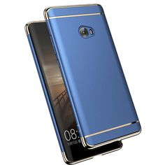Luxury Plating Frame Splicing PC Hard Protective Back Cover Case For Xiaomi Mi Note 2