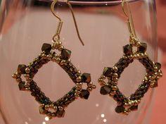 Dangle Earrings – Dark bronze tone square earrings – a unique product by DarkEyedJewels on DaWanda Etsy Earrings, Dangle Earrings, Square Earrings, Handmade Jewellery, Dangles, Bronze, Dark, Unique, Jewelry