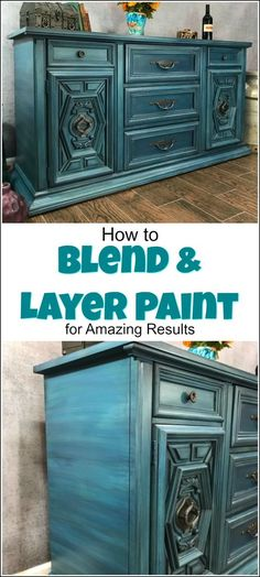 How to Blend & Layer Paint for Amazing Results on your painted furniture projects. Layered painting techniques are truly one of a kind.