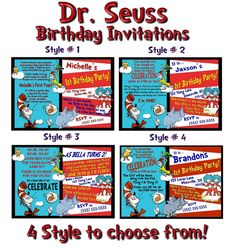 invites- 4 styles to choose from