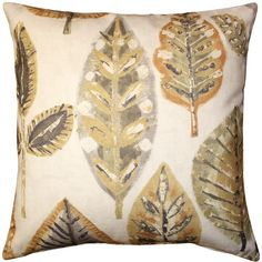 Pillow Decor Autumn Leaves Throw Pillow 22x22 ($70) ❤ liked on Polyvore featuring home, home decor, throw pillows and pillow decor