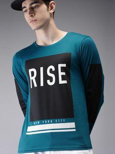 Buy Moda Rapido Men Navy Blue Printed Round Neck T Shirt - Tshirts for Men 2302252 Dip Dye T Shirts, Polo T Shirts, Cool Shirts, Funny Shirts, Free T Shirt Design, Cool Shirt Designs, Shirt Print Design, Mens Printed T Shirts, Hypebeast