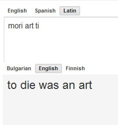 This could not be more wrong, actually. The 'to die' part is right. But art is not a word in Latin. It comes from ars, artis (f) meaning method, way, knowledge, skill, art, or trick. There is no form that equates to 'art' and the correct form would be artem in the accusative case. There is also no 'ti' in Latin. The closest thing I can think of would be the personal pronoun tu (you, singular) but it does not decline into 'ti' but that doesn't fit the given definition.