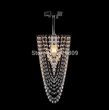 Free Shipping Brief Mini Modern Crystal Ligth Single Head Best Selling Hallway Lamp Dia17*h45cm Lustre Cristal Home Lighting(China (Mainland))