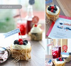 4th of July Cupcake Flag Printables