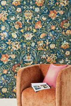 Gaia Wallpaper by House Of Hackney in Blue, Wall Decor at Anthropologie Wallpaper Color, Unique Wallpaper, Pattern Wallpaper, Wallpaper Ideas, Accent Wallpaper, Beautiful Wallpaper, Deco Cool, British Traditions, Looks Cool