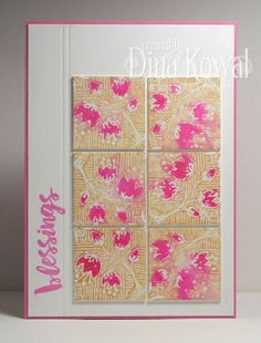 Mama Dini's Stamperia: Watercolor Stamped Inchies