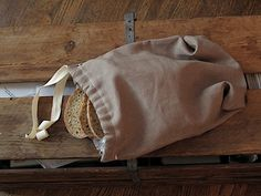 Eighteenth Century Agrarian Business: sewing: linen bread bag & french seams