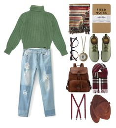 """""""Una nave in una foresta"""" by ineedsomecyanide ❤ liked on Polyvore featuring Yves Saint Laurent, Dr. Martens, Billabong and Burberry"""