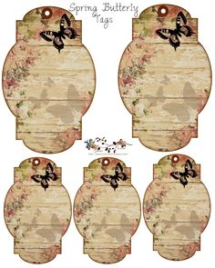 Free Victorian Butterfly Tags