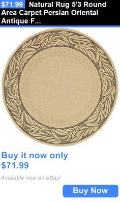 household items: Natural Rug 53 Round Area Carpet Persian Oriental Antique Floor Indoor Outdoor BUY IT NOW ONLY: $71.99
