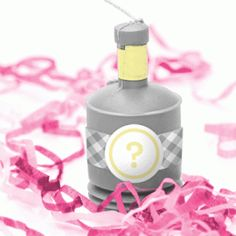 gender reveal party poppers