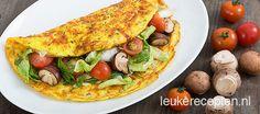 Omelet gevuld met salade - Leuke recepten