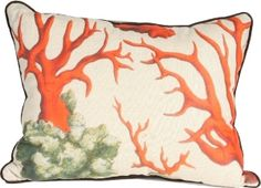 Red Coral II Pillow